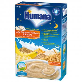 Каша Humana молочна «Солодкі сни» цільнозернова з бананом, 200 г
