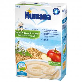 Каша Humana молочна гречана з яблуком, 200 г