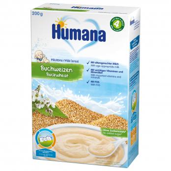 Каша Humana молочная гречневая, 200 г