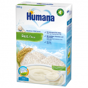Каша Humana молочна рисова, 200 г