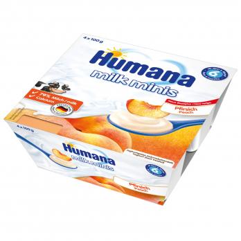 Кисломолочний продукт Humana з персиком, 4 x 100 г