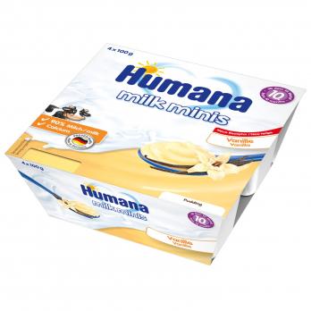 Пудинг Humana ванильный , 4 x 100 г