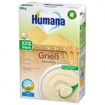 Каша Humana безмолочная органическая пшеничная, 200 г
