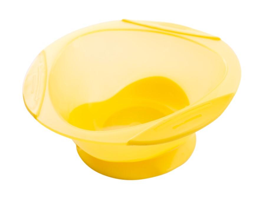 Тарілка на присосці Baby team, 280 мл, 6 міс+ (жовта)