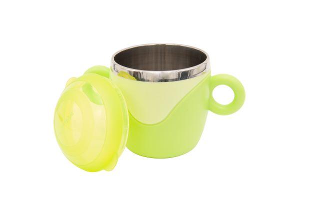 Чашка з кришкою і ручками, з нержавіючої сталі Baby team, 240 мл, 10 міс +