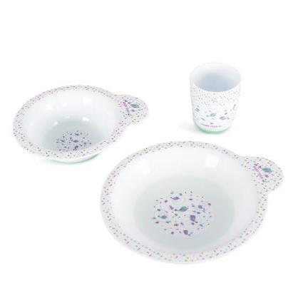 Набір для годування (тарілка, миска, чашка) Baby team, 6 міс +